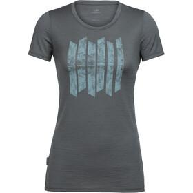Icebreaker Tech Lite Soundless t-shirt Dames grijs